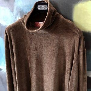 DIESEL Mens Cotton Velour Sweatshirt Jumper Brown